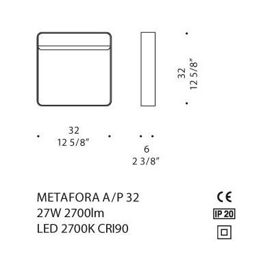 De Majo, METAFORA A/P 32, Plafone