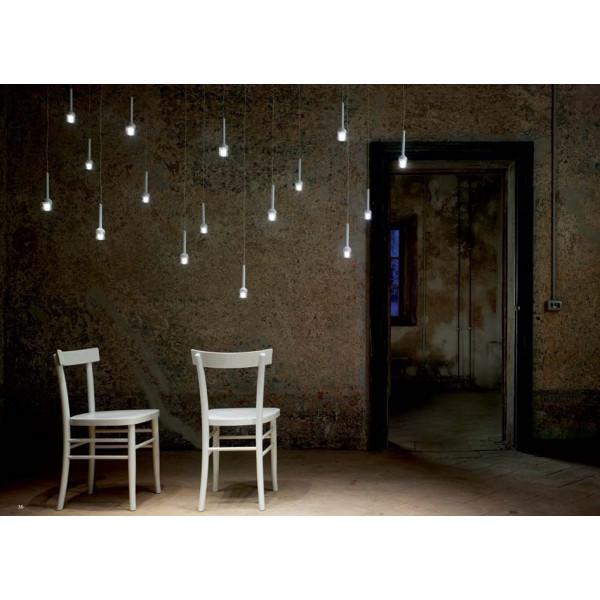 Lampe à suspension Torcetta 8 lumières Led 3W 3000K