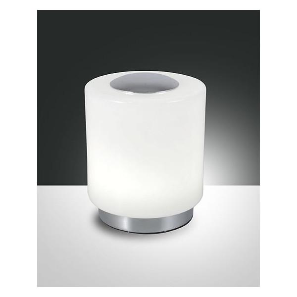 Lampe à poser Simi structure en métal et verre soufflé Led 8W