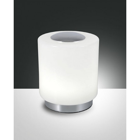 Simi Table lamp metal frame and blown glass Led 8W