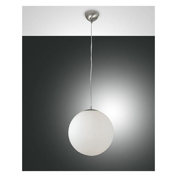 Lampe à suspension Bong Piccolo structure en métal et verre soufflé 60W E27