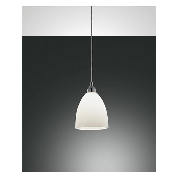 Provenza Piccola lampada a sospensione struttura in metallo e vetro centrifugato 60W E27