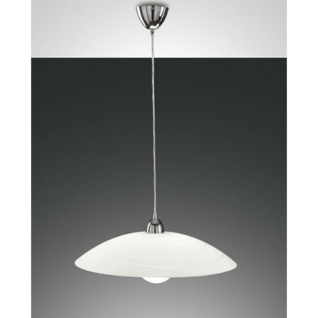 Kent Suspension lamp metal frame and plate glass 75W E27