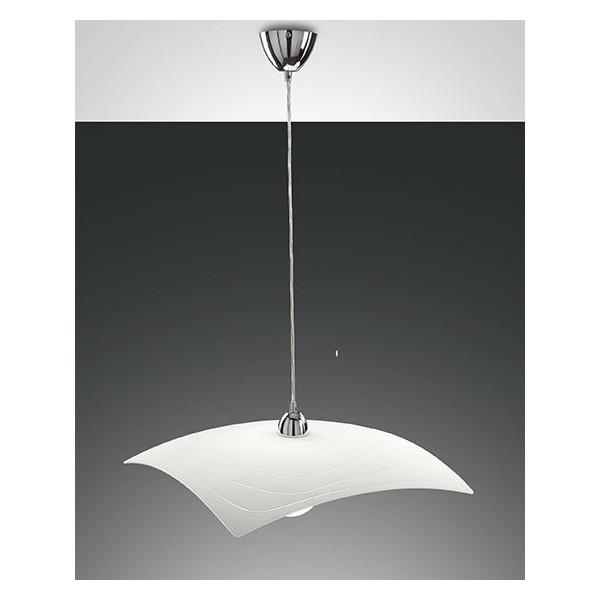 Structure de la lampe à suspension Lynn en métal et verre en plaque E27 75W
