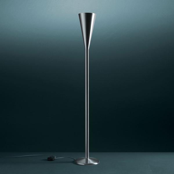 Luminator Floor lamp nickel-plated brass finish 230W R7s