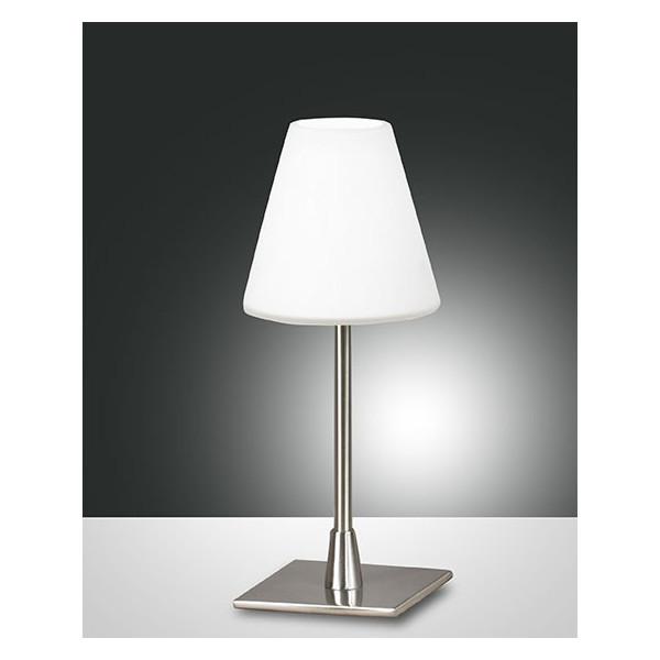 Lucy lampada da tavolo struttura in metallo e vetro soffiato 40W G9