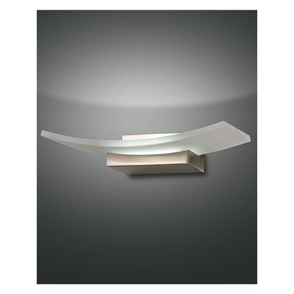 Bar lampada da parete struttura in metallo e vetro in lastra Led 12W