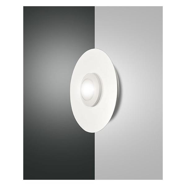 Applique / plafonnier rond Swan structure en métal et méthacrylate Led 8W