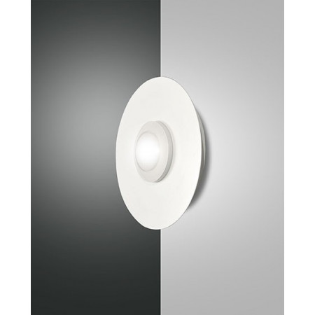 Swan round Wall/Ceiling lamp metal and methacrylate frame Led 8W
