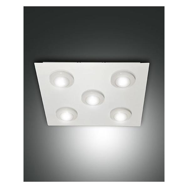 Plafonnier Swan 5 lumières structure en métal et méthacrylate Led 40W