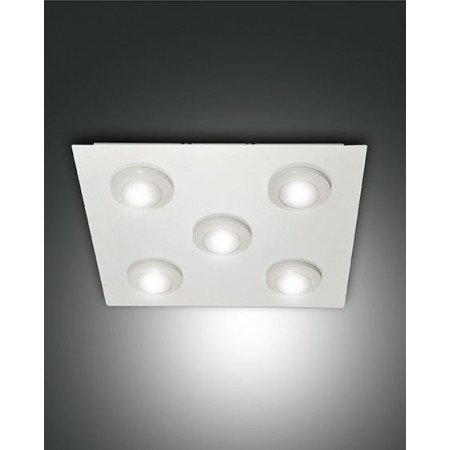 Swan 5 lights Ceiling lamp metal and methacrylate frame Led 40W