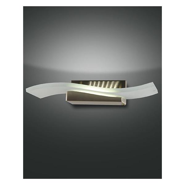 Glove lampada da parete struttura in metallo e vetro in lastra Led 12W