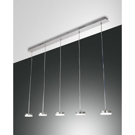 Dunk 5 lights Suspension lamp metal and methacrylate frame Led 40W