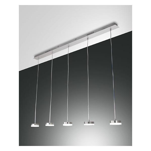 Dunk 5 lumières Suspension structure en métal et méthacrylate Led 40W