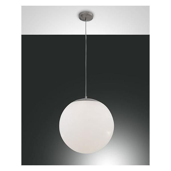Bong Grande lampada a sospensione struttura in metallo e vetro soffiato 40W E27