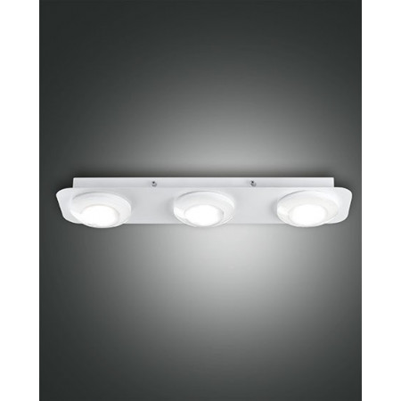 Swan 3 lights Ceiling lamp metal and methacrylate frame Led 24W