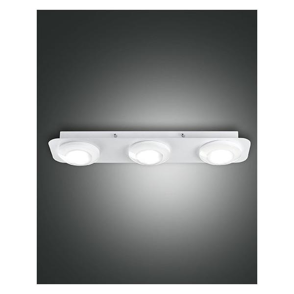 Swan 3 luci lampada da soffitto struttura in metallo e metacrilato Led 24W