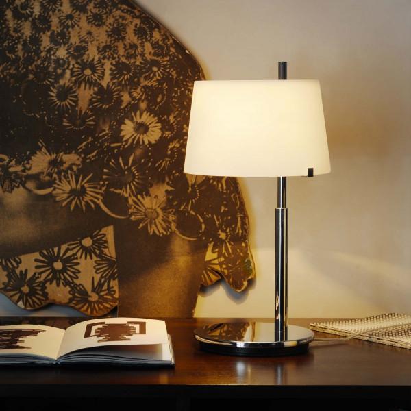 Passion lampada da tavolo diffusore in vetro bianco soffiato e satinato