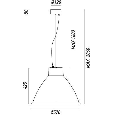 Il Fanale , LOFT LARGE SUSPENSION C / CABLE 1 LIGHT, Suspension