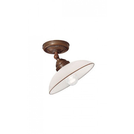 Country c/snodo Ceiling lamp in brass and white blown glass 46W E14