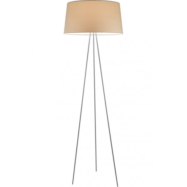 Tripod lampada da terra paralume in tessuto 70W E27