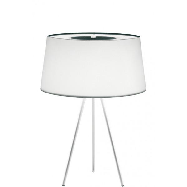 Tripod lampada da tavolo paralume in tessuto 40W E14
