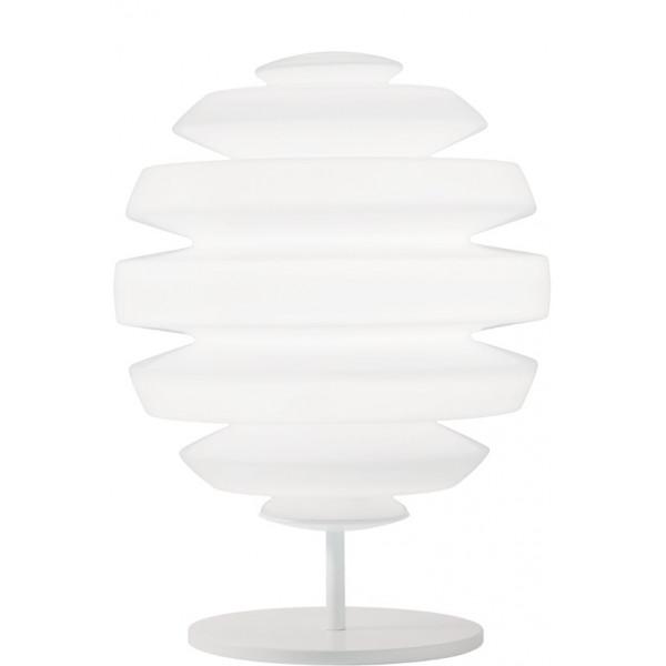 Honeymoon S lampada da tavolo diffusore in vetro opale incamiciato e soffiato 33W G9