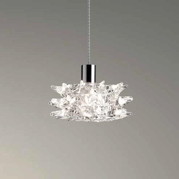 Lampe à suspension Kuk S en cristal transparent pur 48W G9