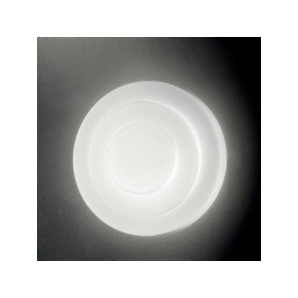 Applique Loop-line P-PL 32 en verre soufflé blanc satiné