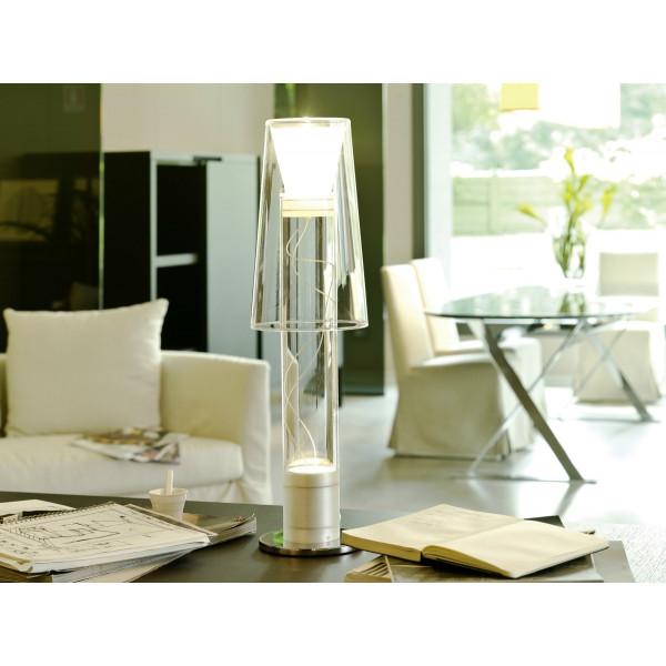Joint lampada da tavolo stelo e diffusore in vetro borosilicato