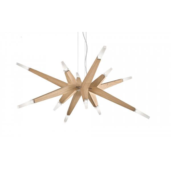 Flashwood S12 90 Lampe à suspension avec bras en bois de chêne Led 28,8W 3000K