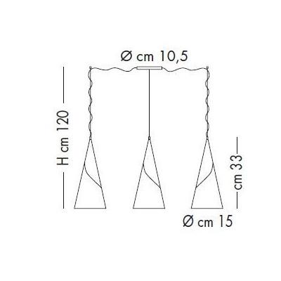 Sillux,Suspension, ALBACHIARA SP 1016/3x15