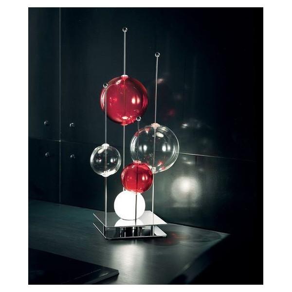 Niagara LT 1/236 Lampe de table sphères en verre pyrex soufflé 33W G9