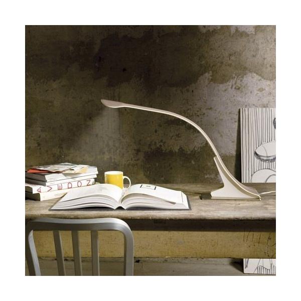 Lampe de table Loop structure recouverte de cuir Led 14W
