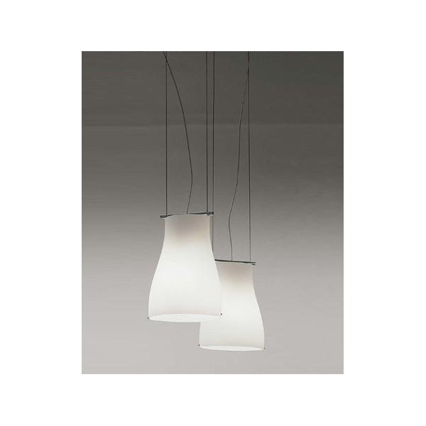 Bell SO Suspension diffuseur de lampe en verre blanc satiné 77W E27