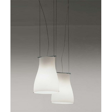 Bell SO Suspension lamp shade in satined white glass 77W E27