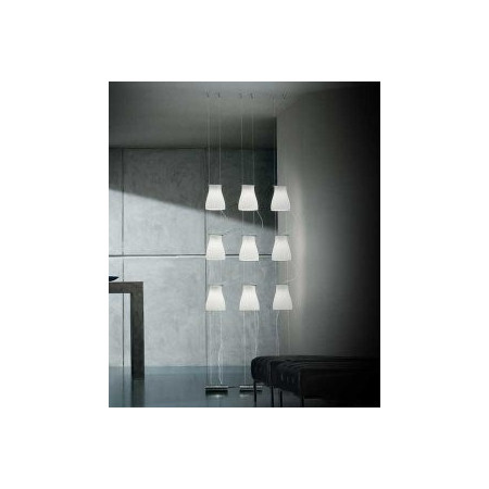 Bell S3V Floor lamp shade in satined white glass 60W G9