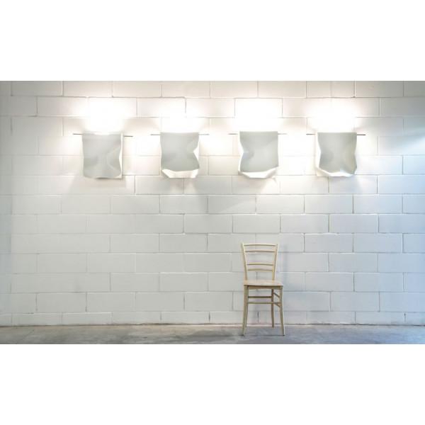 Stendimi P 40 lampada da parete in acciaio battuta a mano 230W R7s