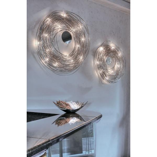 Confusione P 50 lampada da parete in filo di alluminio anodizzato