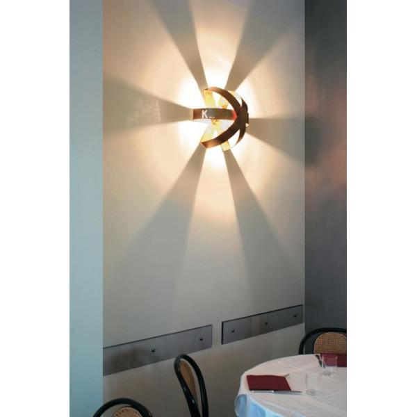 Ecliptika P 40 lampada da parete in alluminio protetto lucido 100W E27