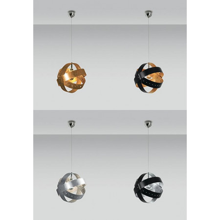 Ecliptika S 40 Suspension lamp in polished aluminium 100W E27