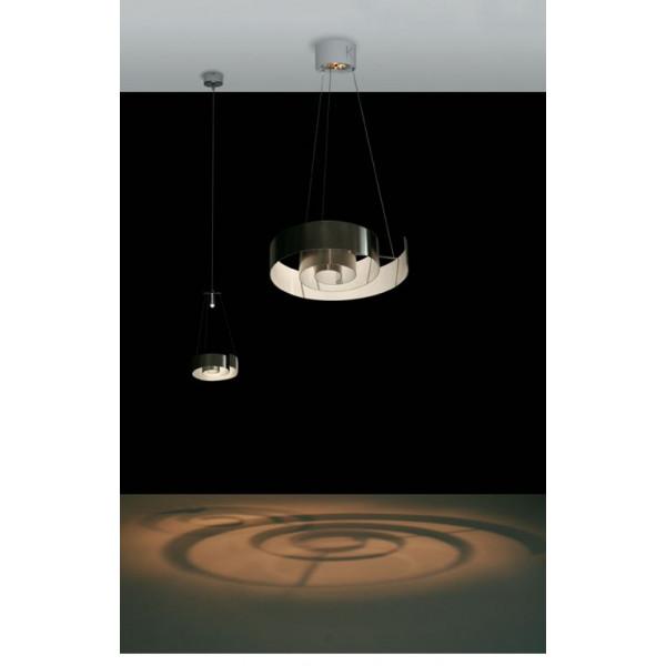 Spirale S 48 lampada a sospensione in alluminio protetto lucido 100W GU10