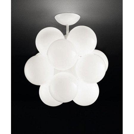 Babol P Ceiling lamp glossy white glass diffusers 20W G9