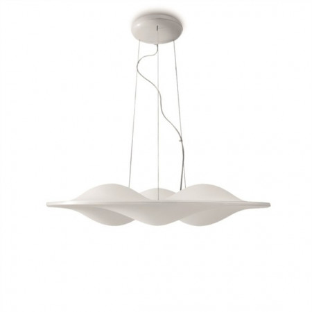 Circle Wave 7462 Suspension lamp thermoformed diffuser in satin PMMA Led 28W 3000K