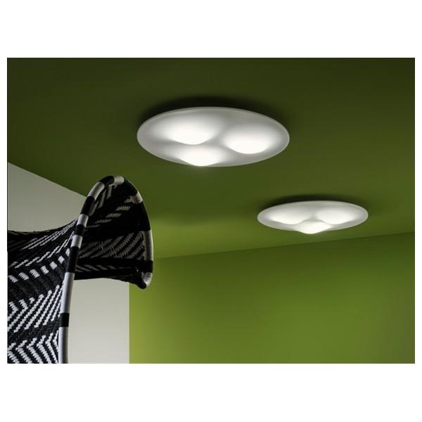 Circle Wave 7463 lampada da soffitto diffusore termoforato in PMMA satinato Led 28W 3000K