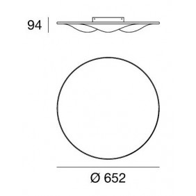 LineaLight,ceiling, CIRCLE WAVE 7463