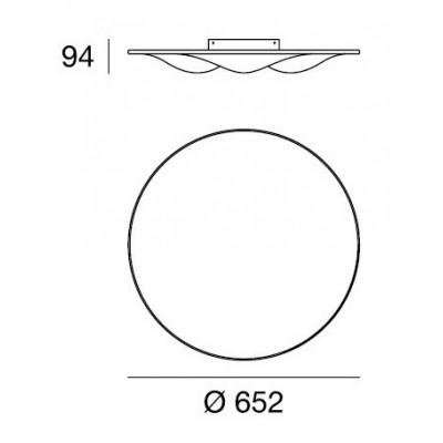 LineaLight, CIRCLE WAVE 7463, Plafone