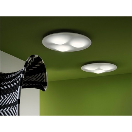 Circle Wave 7461 lampada da soffitto diffusore termoforato in PMMA satinato Led 42W 3000K