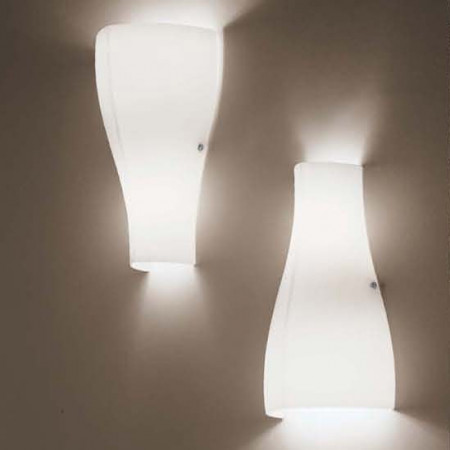 Bell A0 Wall lamp shade in satined white glass 60W G9