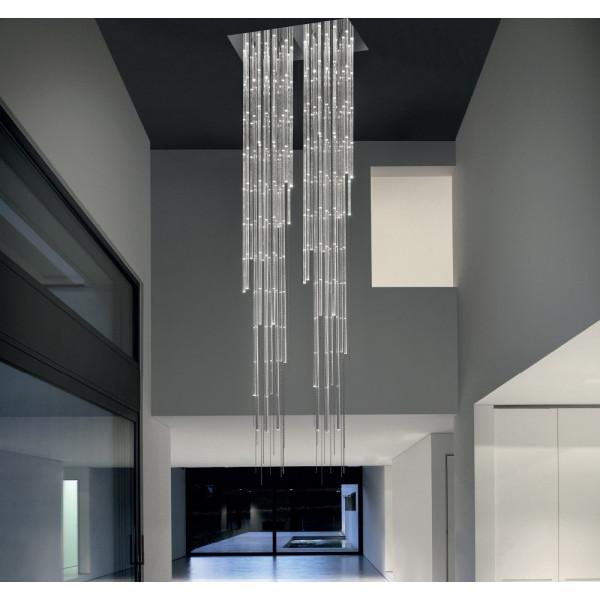 Aquazul SP 8/306 lampada a sospensione diffusore in cristallo acrilico